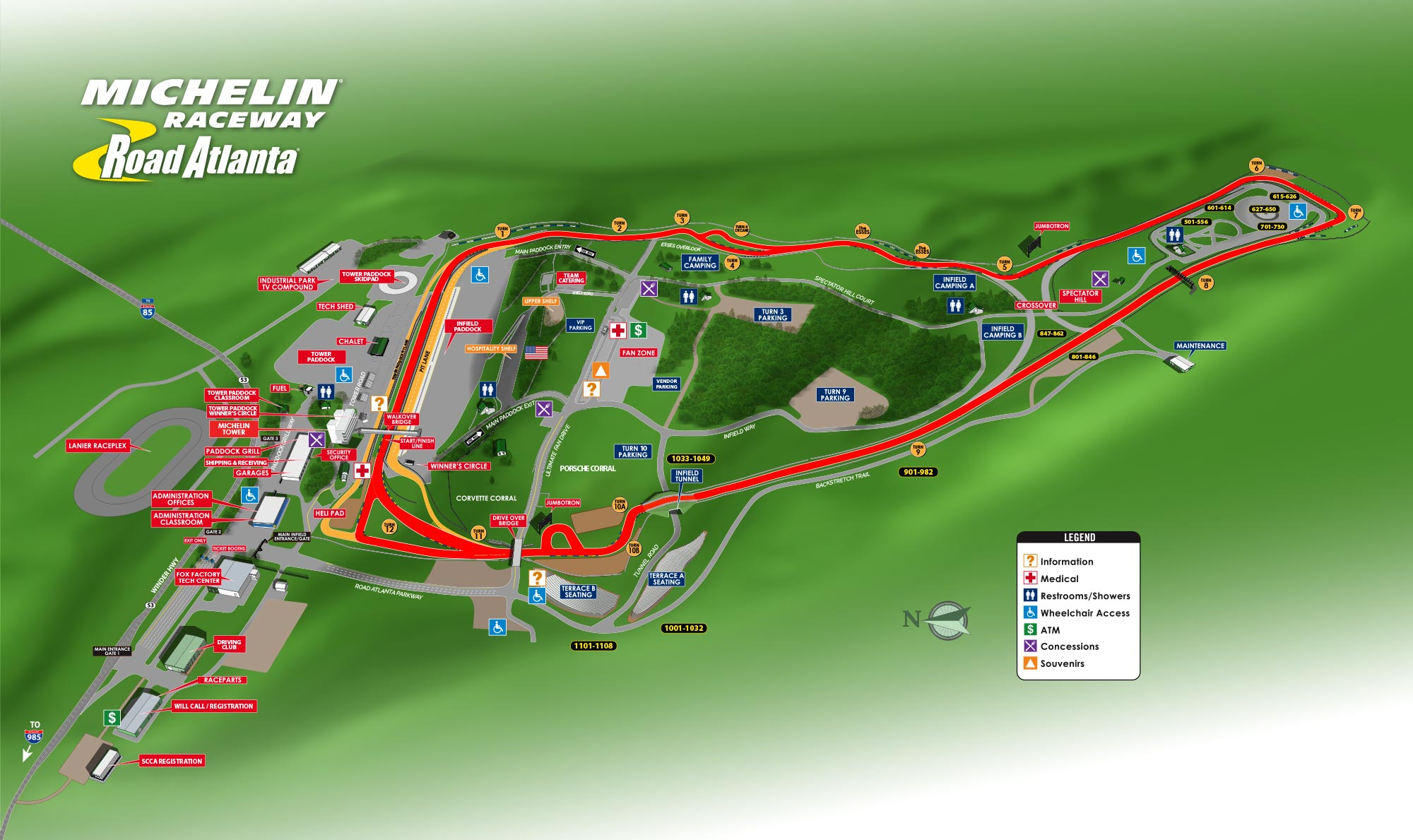 Michelin Raceway Road Atlanta Track Map